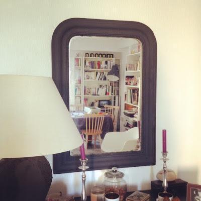 DIY: customisation d'un miroir Louis-Philippe chiné (et plutôt mal en point)