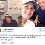 Quand Murray se grime en vendeur de glaces