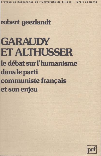 Althusser-Garaudy (suite)