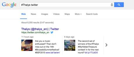 Twitter arrive sur la version Web de Google.com