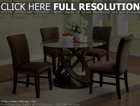 Round Glass Dining Table Decor