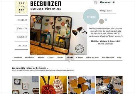 shop déco vintage, Becbunzen