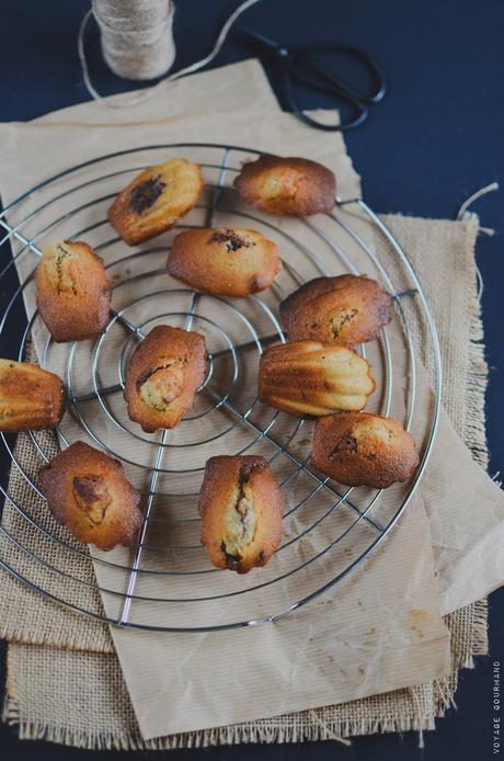 Madeleines noix de coco, coeur fondant au chocolat