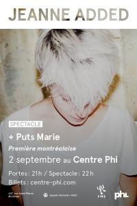 Jeanne Added au Centre Phi de Montréal le 2 septmbre 2015