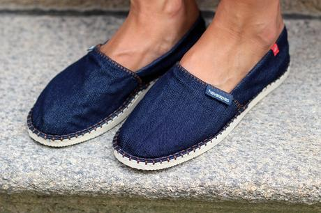 espadrilles chaussures Havaianas jean