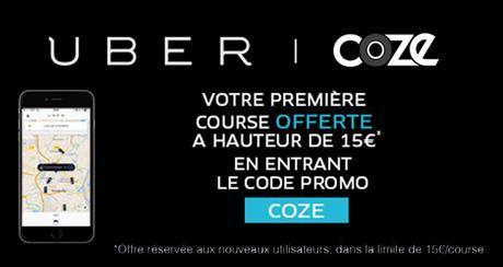 COZE & UBER vous offre votre premier trajet
