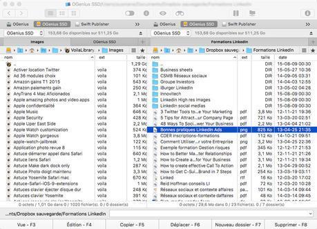 Commander One: le gestionnaire double de fichiers du Finder