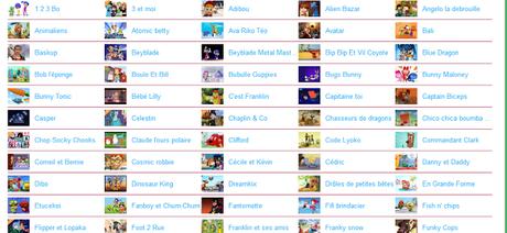 Voir Dessin animé: Liste impressionnante de dessins animés gratuits visibles légalement