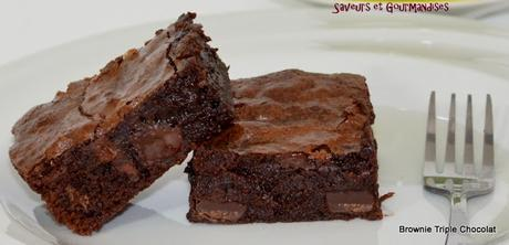 Brownie Triple Chocolat.