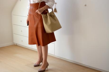 ZARA leather skirt FW15 2