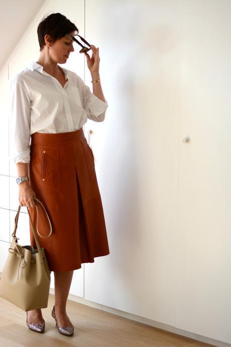 ZARA leather skirt FW15 7
