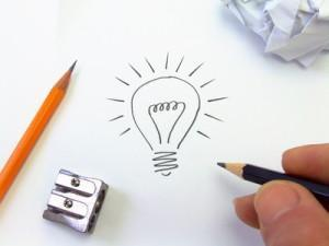 Ampoule dessinée