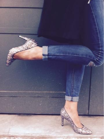 OOTD : MY GLITTER SHOES par Charley