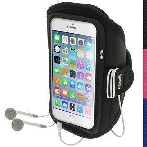 Ce brassard a été conçu sur mesure pour Apple iPhone 6 4.7 Pouces 4G LTE Smartphone  Avec sérigraphie pour une utilisation complète des butons. Fabriqué à partir de néoprène résistant à l'eau. Parfait pour utiliser dans la salle de gym, jogging, VTT...