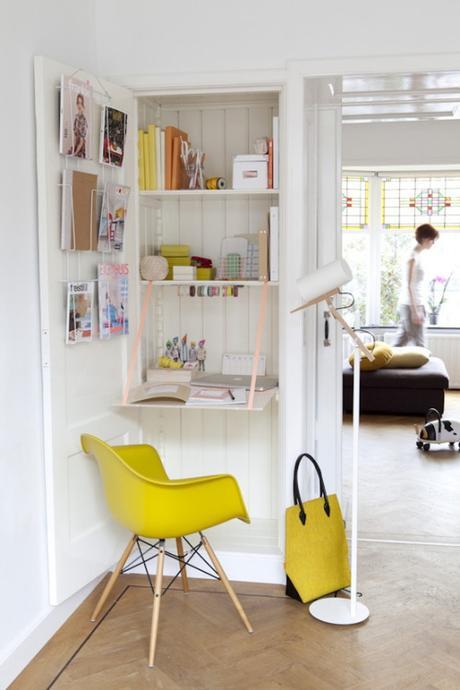 cr er un coin bureau fonctionnel et cosy dans un espace paperblog. Black Bedroom Furniture Sets. Home Design Ideas