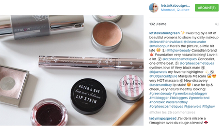 Instagram tag Makeup of the moment : Antonym, Aster + Bay, Kjaer Weis, Orphée Cosmétiques, Fit Glow Beauty., etc.