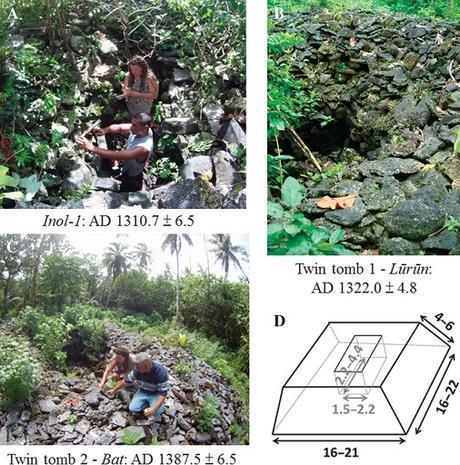 Des tombes en forme de pyamide datées grâce au corail en Micronésie