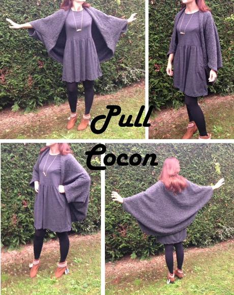 DIY : pull Cocon en 30 minutes chrono (tuto couture inside)