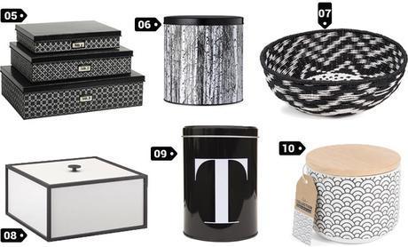 boites deco noir et blanc