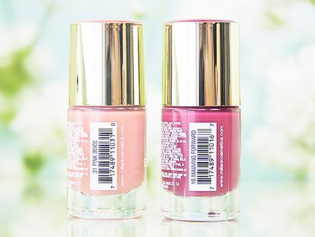 Vernis à ongles Color Statement Nail Lacquer Milani cosmetics Pink Beige Mauving Forward packaging flacon nom teinte
