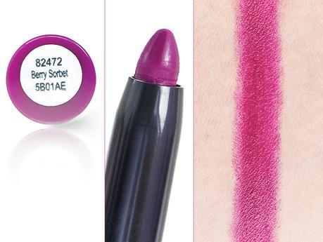 Crayon jumbo à lèvres mat Matte Lip Color e.l.f. prune Berry Sorbet packaging nom teinte mine et swatch