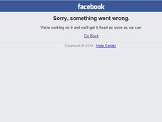 Facebook down pour deuxième fois semaine!