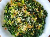 Choux Bruxelles kale avec sauce miso Dijon