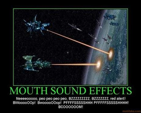 Mouth sound effect