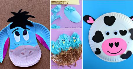 voici des excellentes id es de bricolage pour enfants faire avec des assiettes en carton. Black Bedroom Furniture Sets. Home Design Ideas
