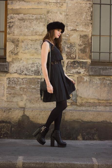 robe noire hiver