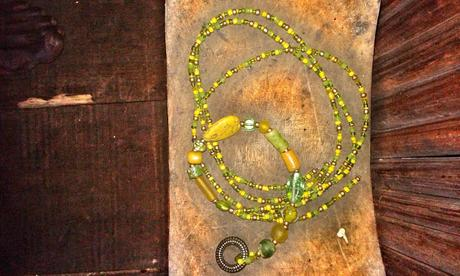 Necklace and belt, between Busua Inn and Ezile Bay - Ghana