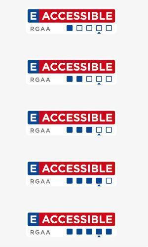 Image présentant les différents niveaux d'accessibilité selon le label E-Accessible