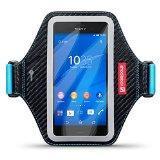 Shocksock Élastique Brassard Armband Sport pour Sony Xperia Z3 Coque Coque - Noir / Bleu