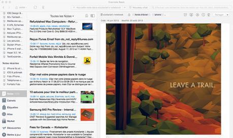 Astuce El Capitan: migrer ses notes Evernote vers Notes