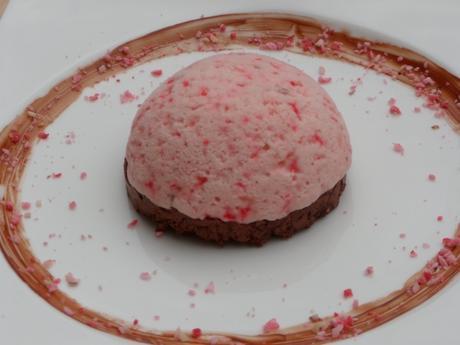 Praline rose, glace, chocolat, mascarpone
