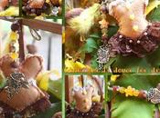 Chataigne douce l'automne, défi pour mois novembre, bijou corset feutrine