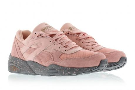 puma rose et grise trinomic