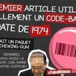 les leçons de choses premier code barre chewing-gum 1974