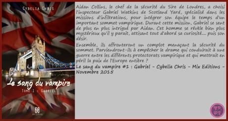 Le Sang du Vampire #1 : Gabriel – Cybelia Chris