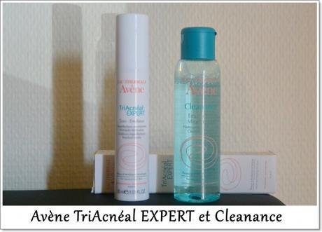 Le duo Cleanance Eau micellaire et TriAcnéal EXPERT d'Avène. Efficace ?!