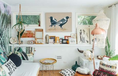 La cabane boho-retro de Rebecca Williams