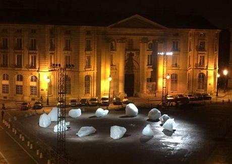 Ice watch Olafur Eliasson  Place du Panthéon Paris décembre 2015