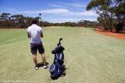 Deuxième trou sur le golf de Kalgourlie