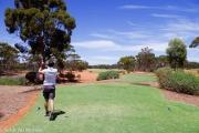 Premier trou sur le golf de Kalgourlie
