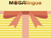Carte cadeau MosaLingua offrez proches maîtrise d'une langue pour Noël