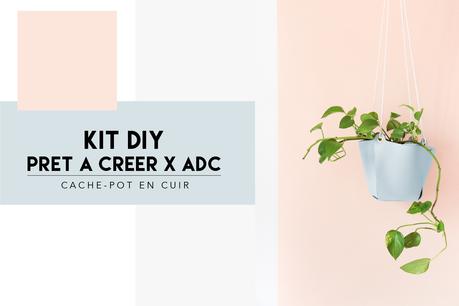 Kit DIY Prêt à Créer x ADC patère design en cuir et bois