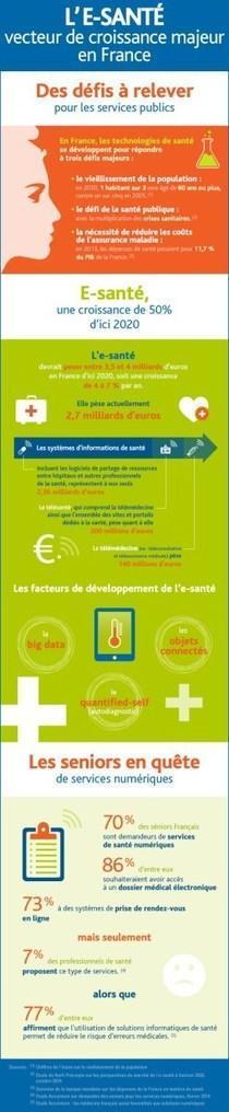 Infographie : le marché de la e-santé en France