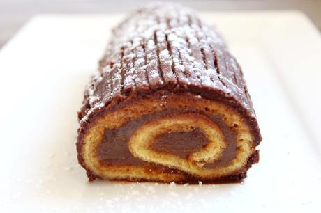 buche noel orange chocolat marron