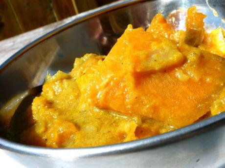 Patates douces et courge butternut au curry indien