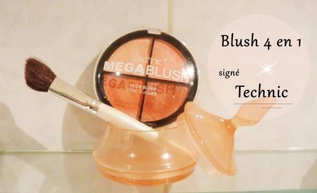 Blush 4 en 1 ! Le megablush de Technic, cette marque à petits prix .